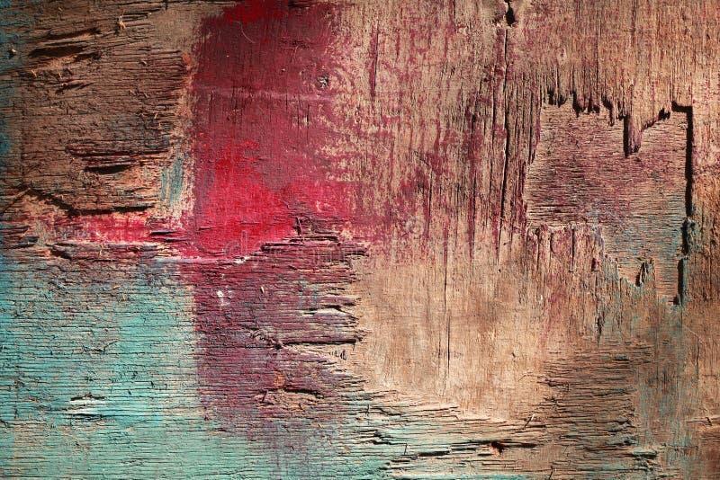 Färgrik gammal träväggbakgrund royaltyfria foton