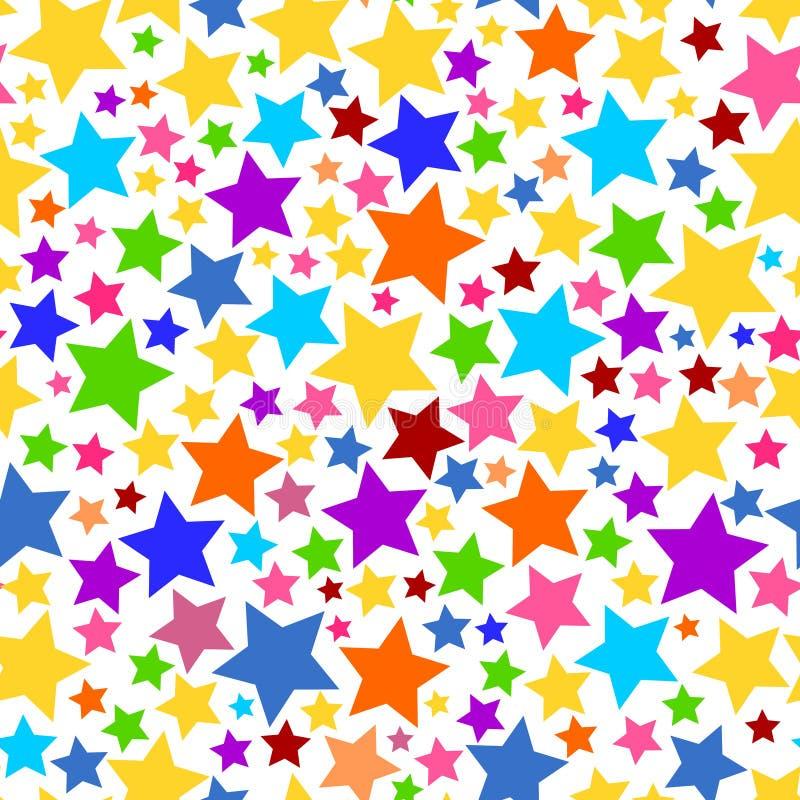 Färgrik genomskinlig sömlös stjärnabakgrundsPNG vektor illustrationer