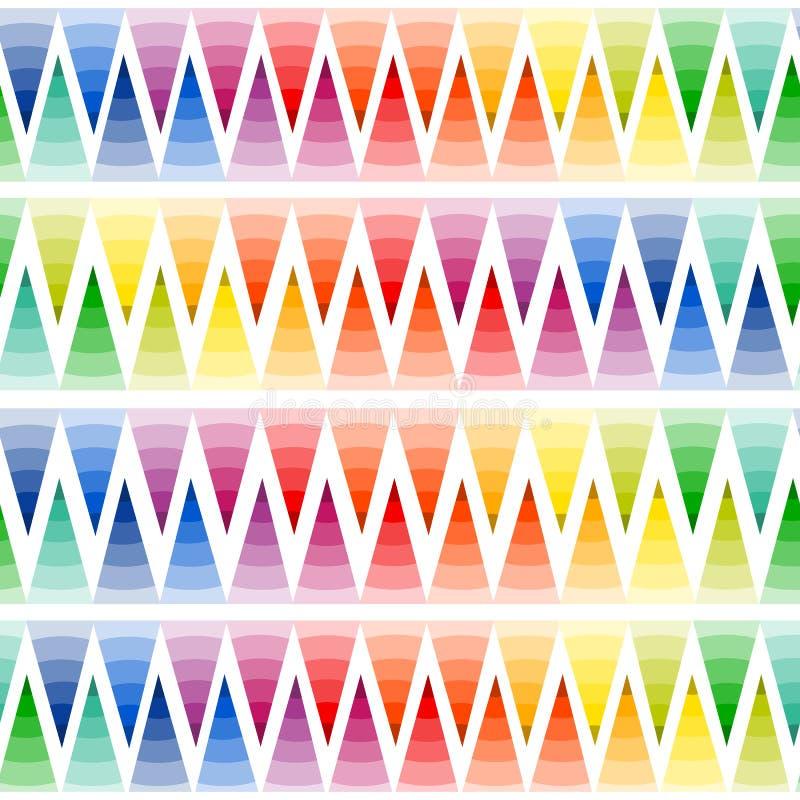 Färgrik geometribakgrund för vektor Ljus abstrakt sömlös modell royaltyfri illustrationer