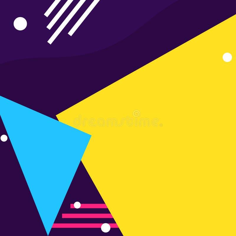 Färgrik geometrisk formbakgrund stock illustrationer