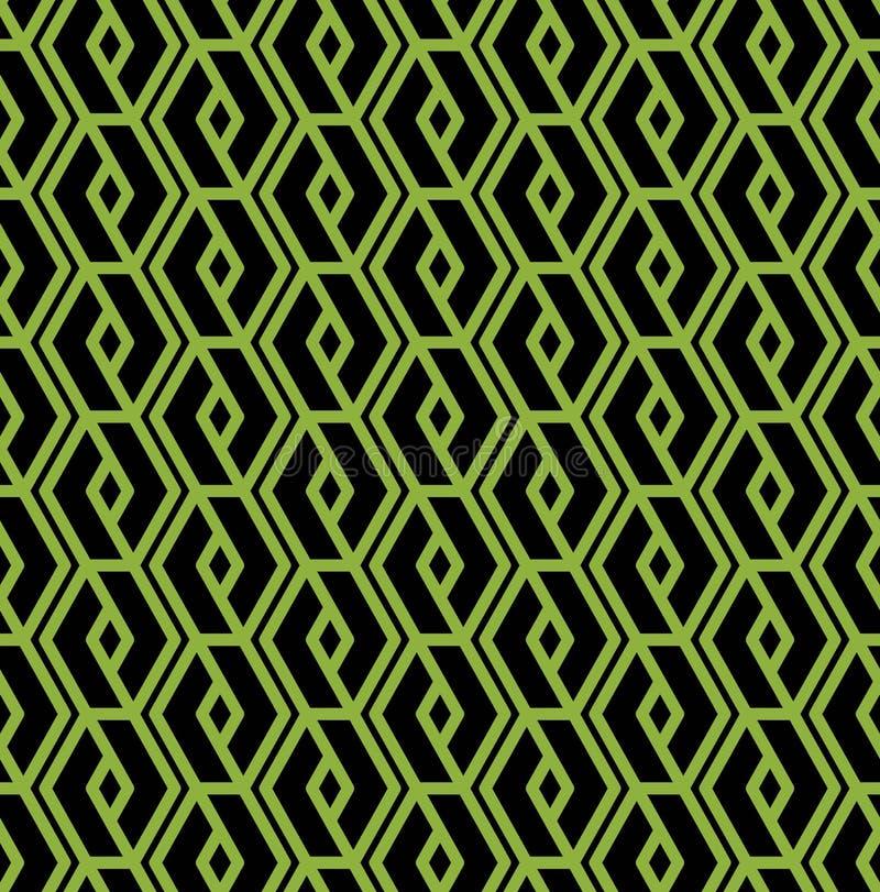 Färgrik geometrisk sömlös modell, symmetriska ändlösa vektorlodisar stock illustrationer