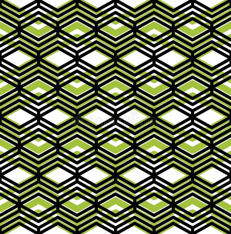 Färgrik geometrisk sömlös modell, symmetriska ändlösa vektorlodisar royaltyfri illustrationer