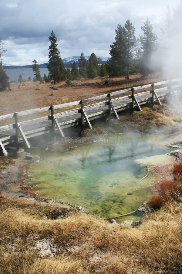 färgrik glaciär yellowstone royaltyfri fotografi