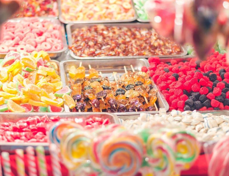 färgrik godis close upp fotografering för bildbyråer