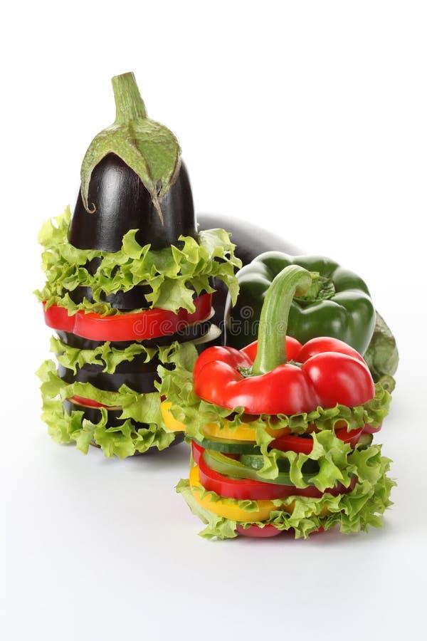 Färgrik grönsakdesign royaltyfria bilder