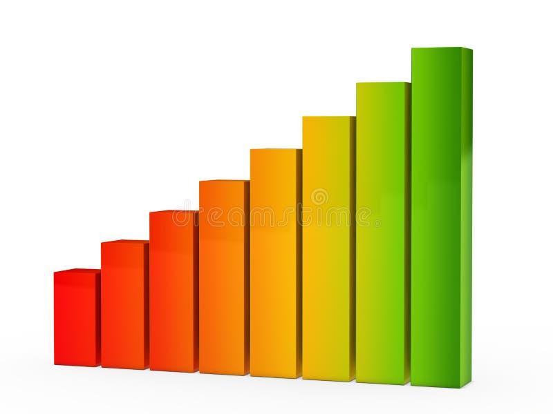 färgrik graf stock illustrationer