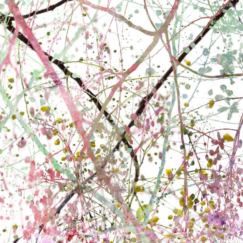 färgrik grunge för abstrakt blomning vektor illustrationer