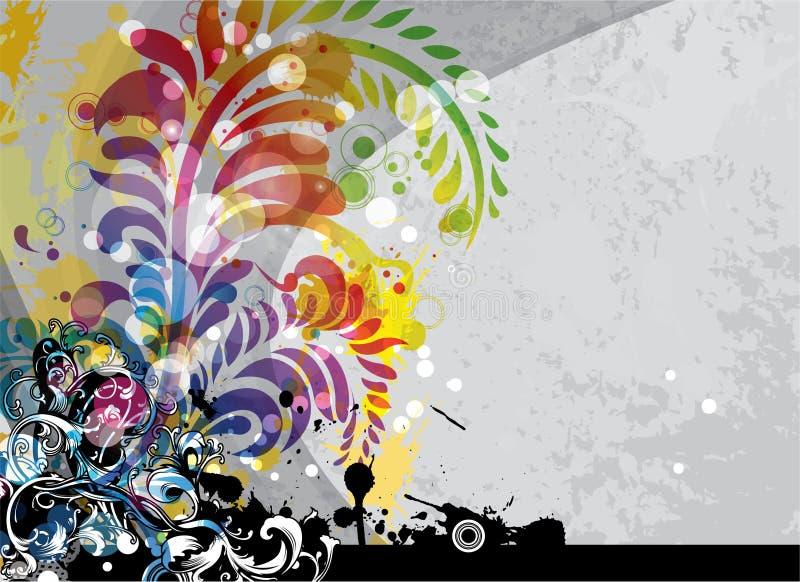 färgrik grunge för bakgrund royaltyfri illustrationer