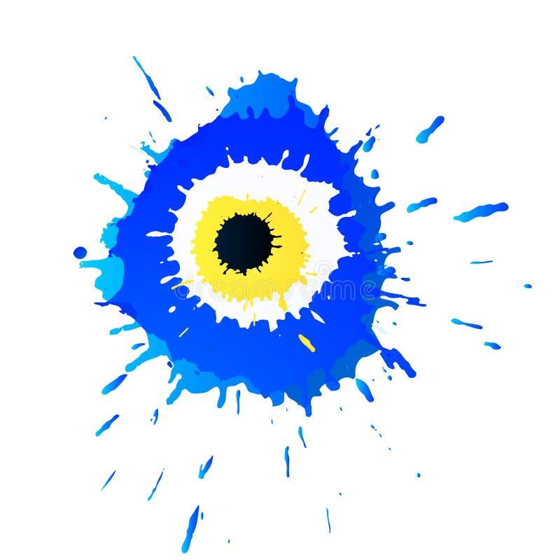 Färgrik grunge turkiska Nazar Boncugu eller för ont öga amulettillustration Trott att det skyddar mot ont öga vektor illustrationer