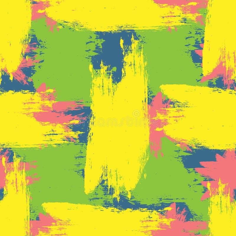 färgrik grungetextur Grova borstesudd royaltyfri illustrationer