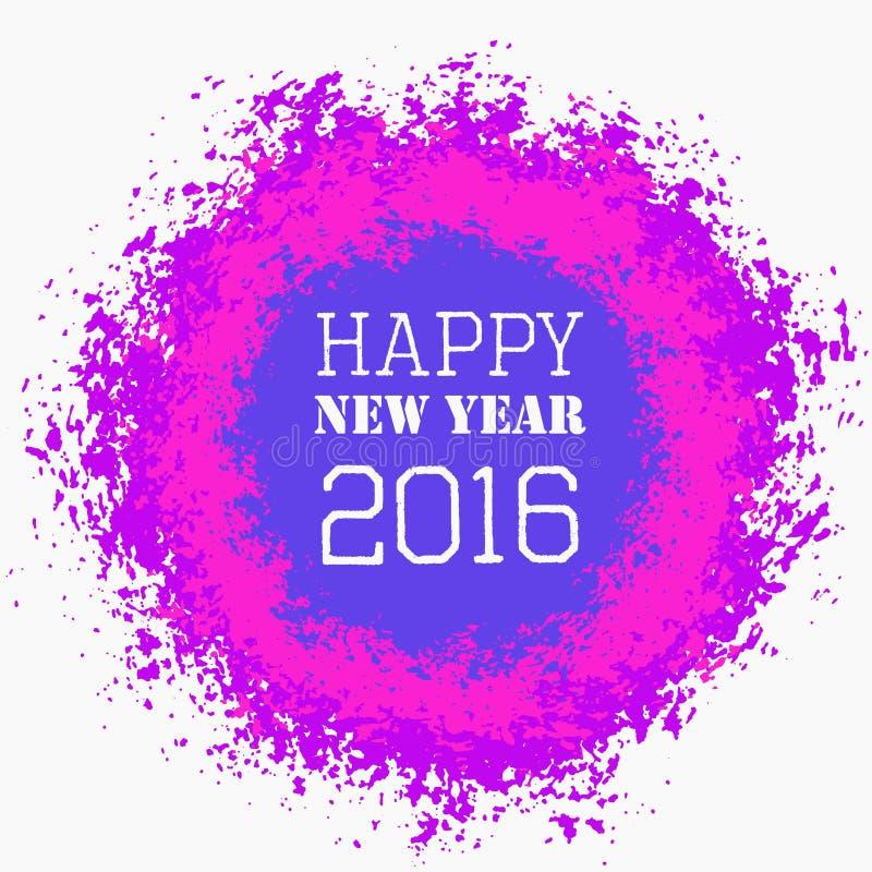 Färgrik hälsning för lyckligt nytt år stock illustrationer