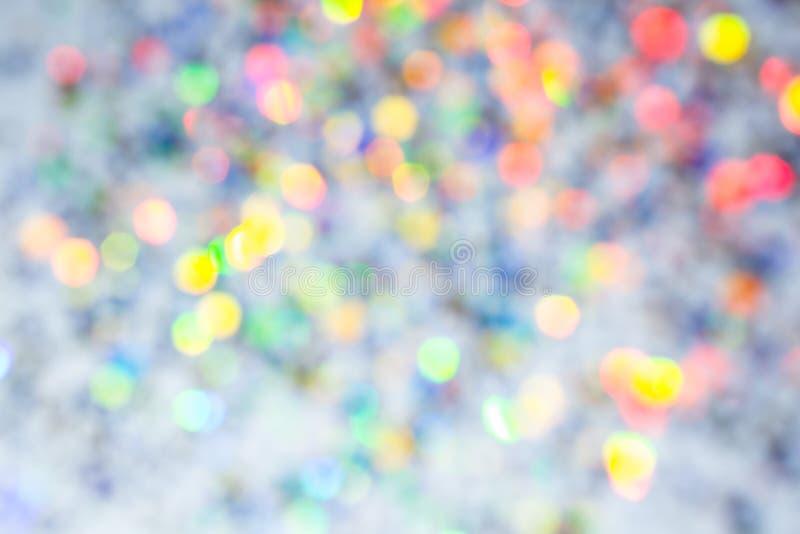 Färgrik härlig suddig textur för bokehbakgrundsferie Blänka mångfärgat ljus royaltyfria bilder