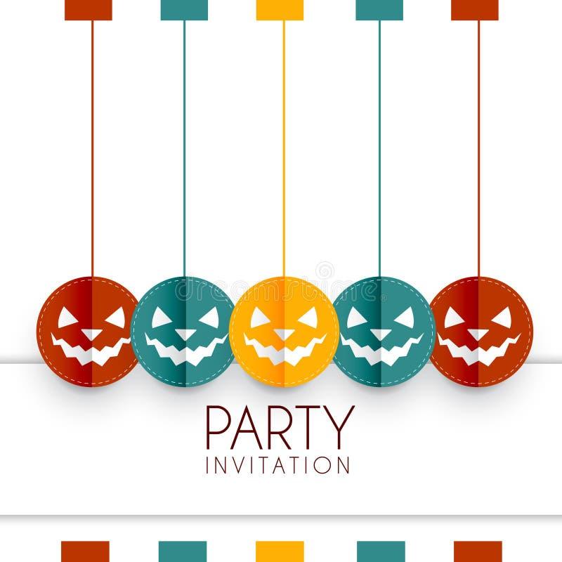 Färgrik halloween design royaltyfri illustrationer