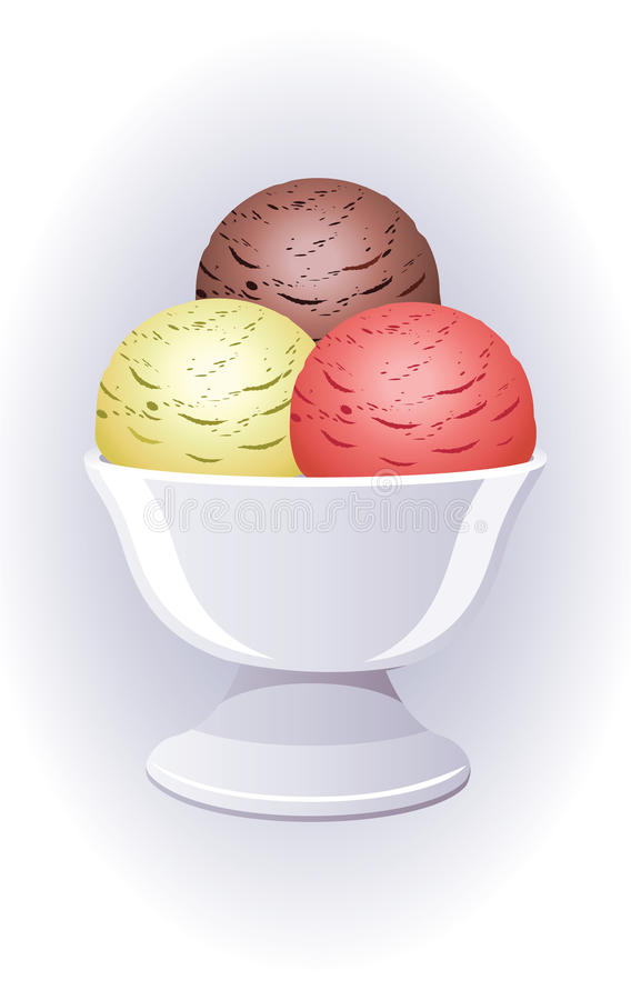 färgrik icecream för bunke vektor illustrationer