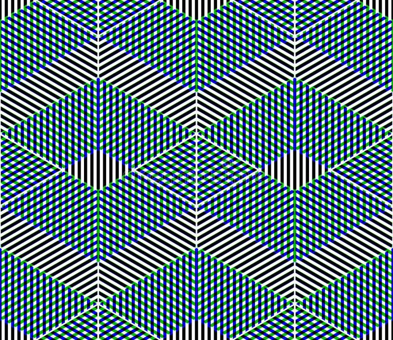 Färgrik illusive abstrakt geometrisk sömlös modell 3d med tr stock illustrationer