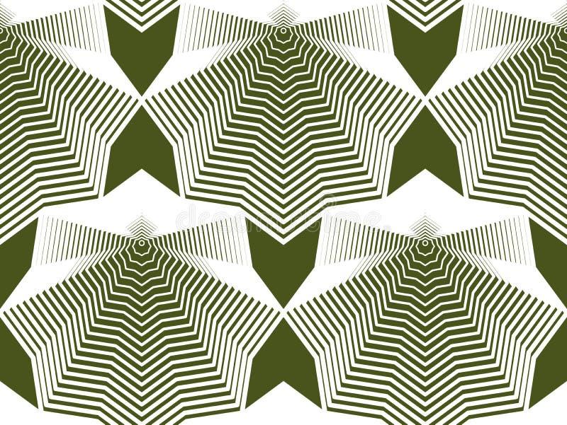 Färgrik illusive abstrakt sömlös modell med geometrisk figur royaltyfri illustrationer