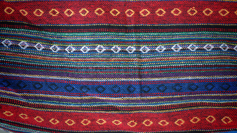 Färgrik indigoblå torkduketextil royaltyfri fotografi