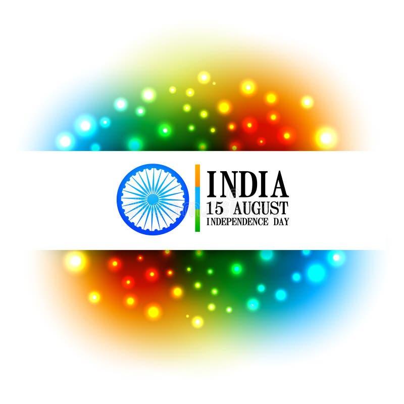 Färgrik indisk flaggadesign royaltyfri illustrationer