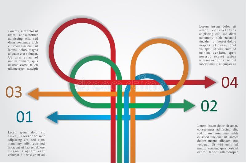 Färgrik infographics för annat sätt. Vektor royaltyfri illustrationer