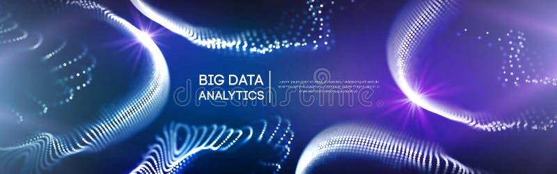 Färgrik information om data, elektroniskt kvarter, konstgjord intelligens och vektor för beteende- vetenskap Cryptocurrency royaltyfri illustrationer