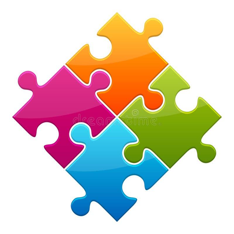 färgrik jigsaw vektor illustrationer