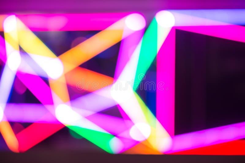 färgrik lampa för abstrakt bakgrundsbokeh fotografering för bildbyråer