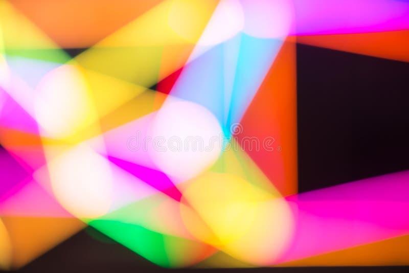 färgrik lampa för abstrakt bakgrundsbokeh arkivbild
