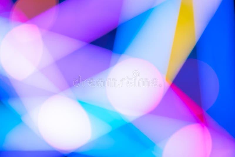 färgrik lampa för abstrakt bakgrundsbokeh royaltyfri foto