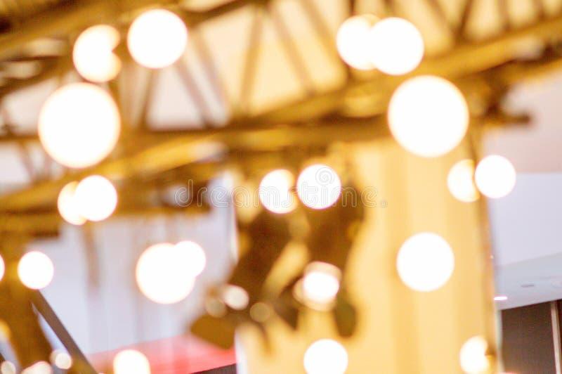 färgrik lampa för bokeh royaltyfri bild