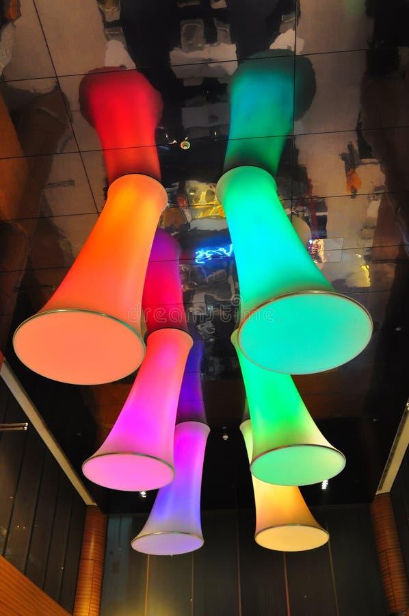 färgrik lighting royaltyfria bilder