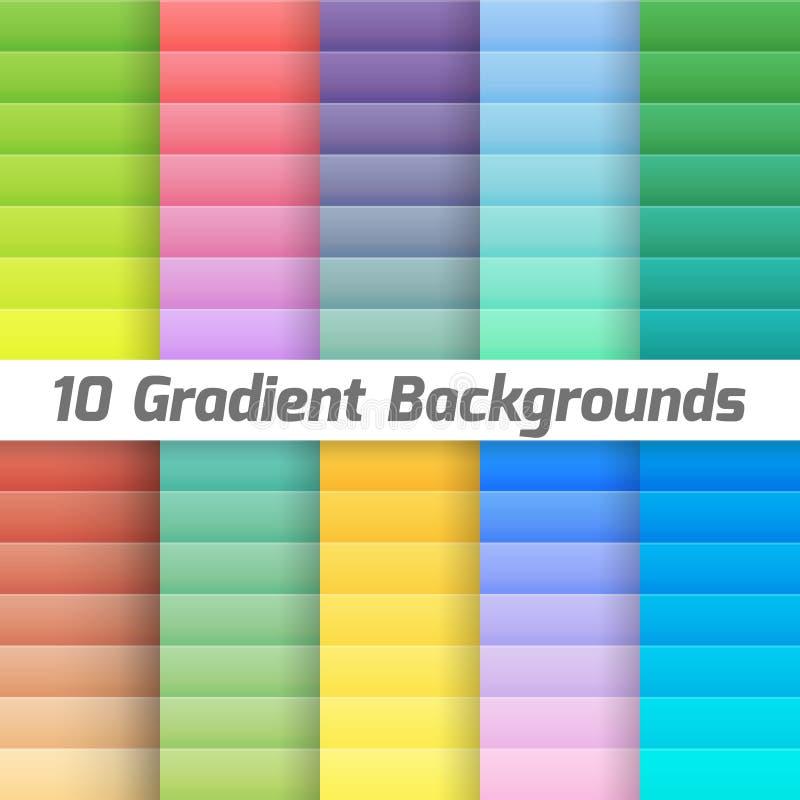 Färgrik linje lutningbakgrundspacke vektor stock illustrationer