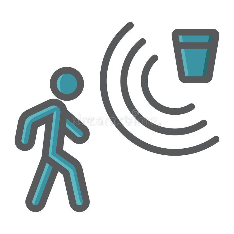 Färgrik linje symbol, ordningsvakt för rörelseavkännare vektor illustrationer