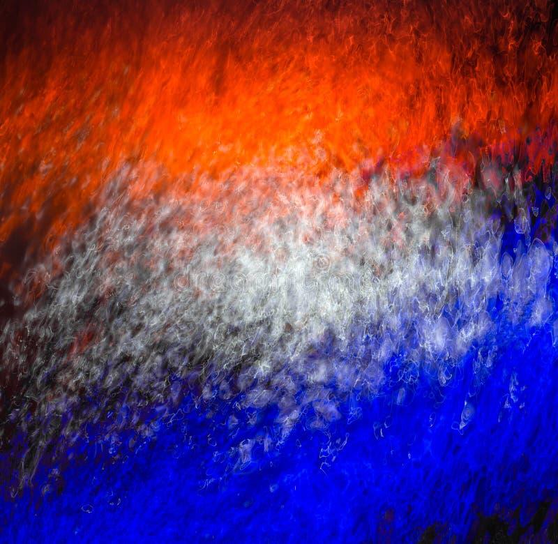 Färgrik ljus reflexion på vattnet fotografering för bildbyråer