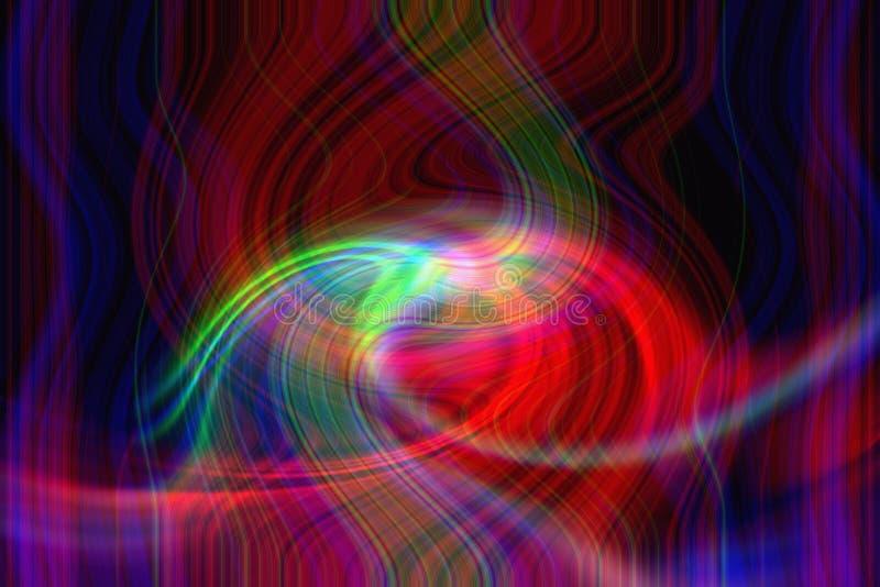 Färgrik ljus spolning arkivbild