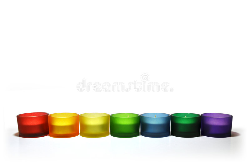 färgrik ljusstake royaltyfri bild