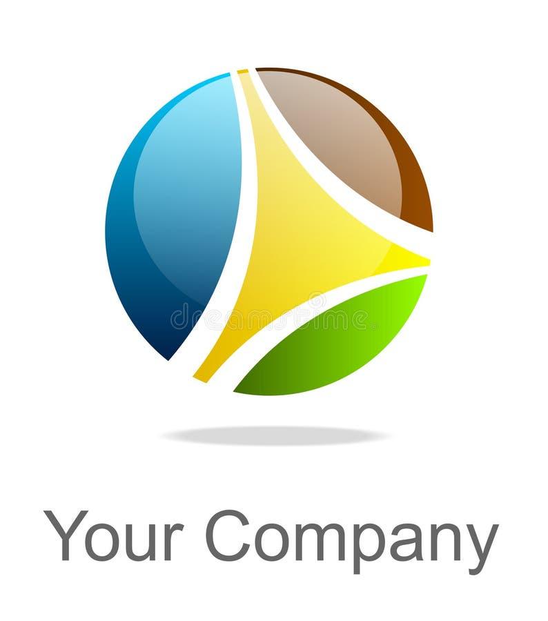 färgrik logo stock illustrationer