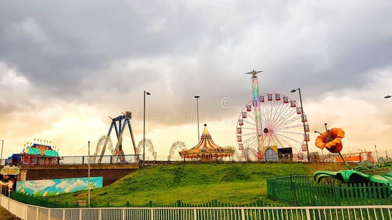 färgrik london cirkus arkivbilder