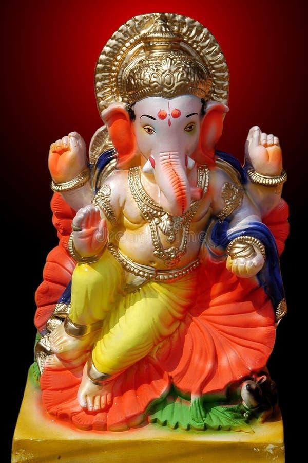 Färgrik Lord Ganesha Modell arkivfoto