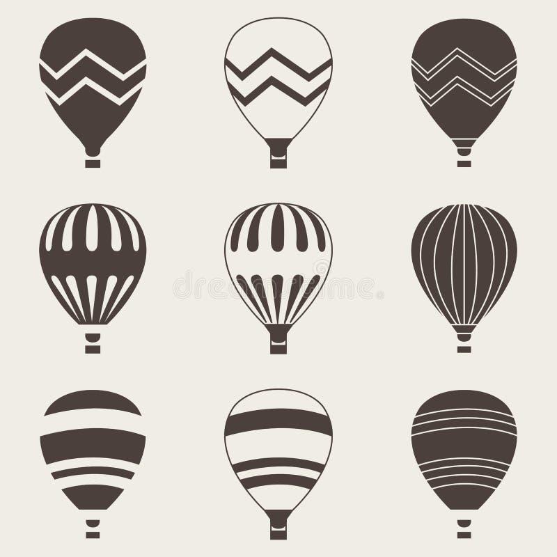 Färgrik luftballong på vit bakgrund royaltyfri illustrationer