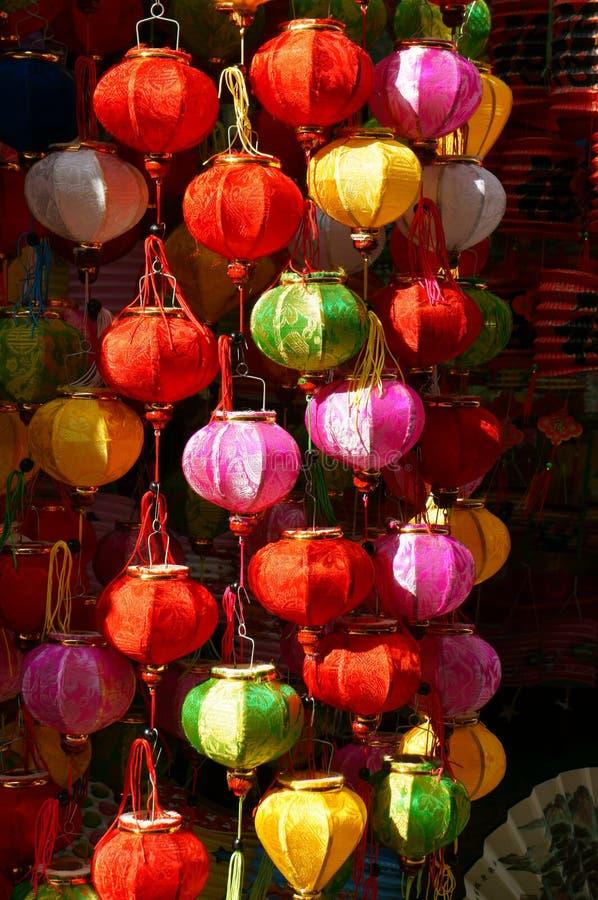 Färgrik lykta, marknadsplats, mitt--höst festival royaltyfri fotografi