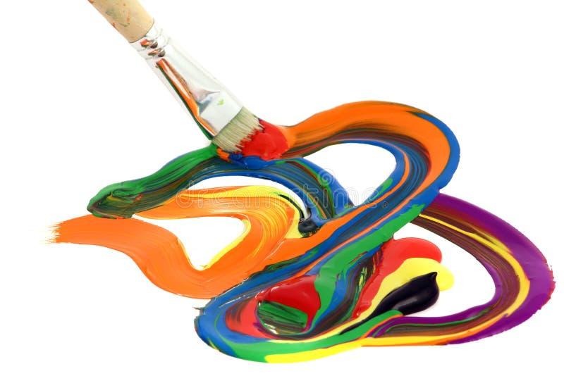 färgrik målarfärg royaltyfri bild
