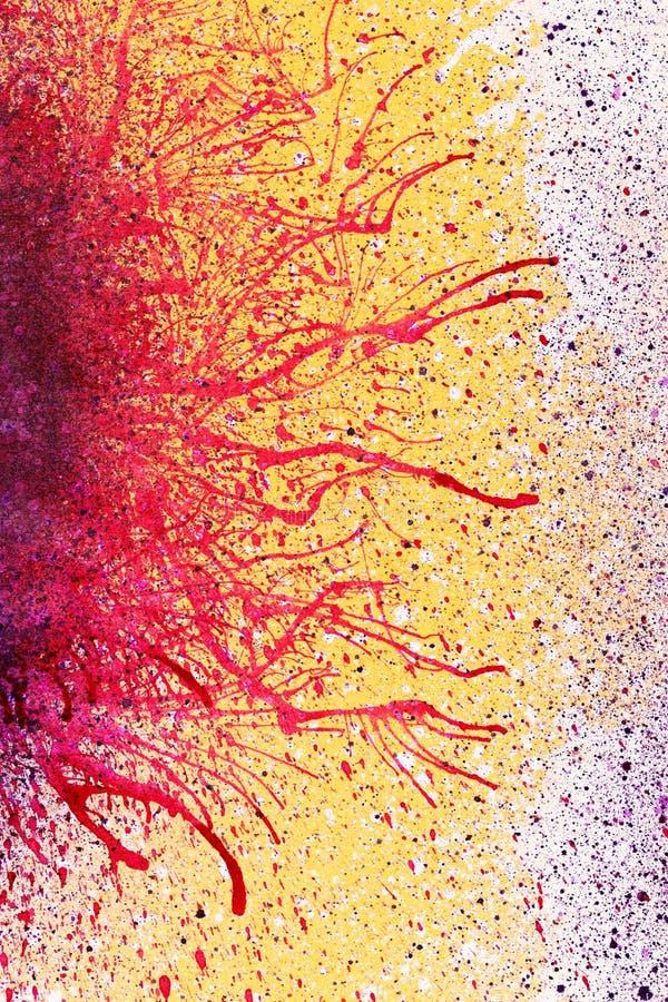 Färgrik målarfärg plaskar bakgrundsabstrakt begrepp arkivfoto