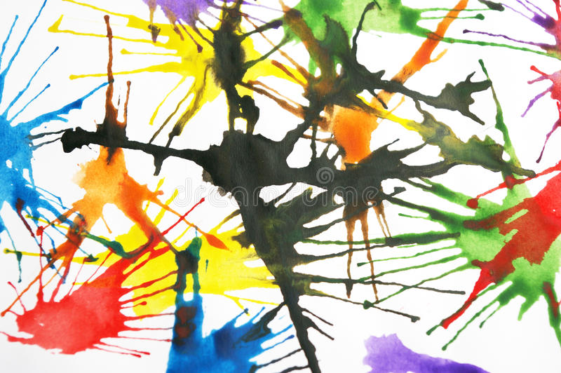 färgrik målarfärgfärgstänk arkivfoton