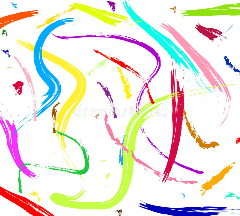 färgrik målning stock illustrationer