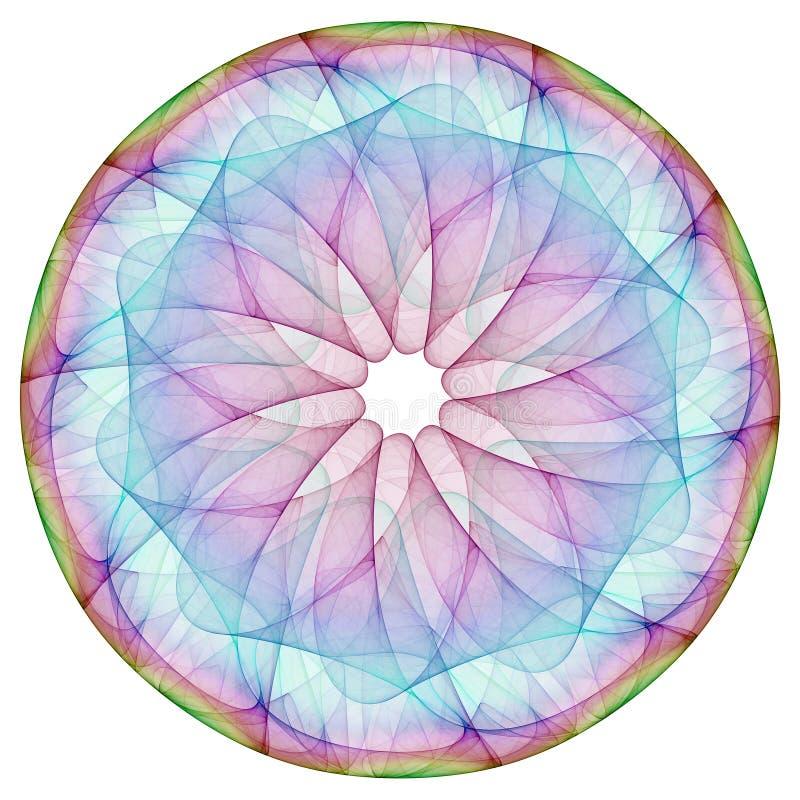 färgrik mandala vektor illustrationer