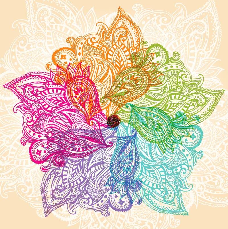 färgrik mandala