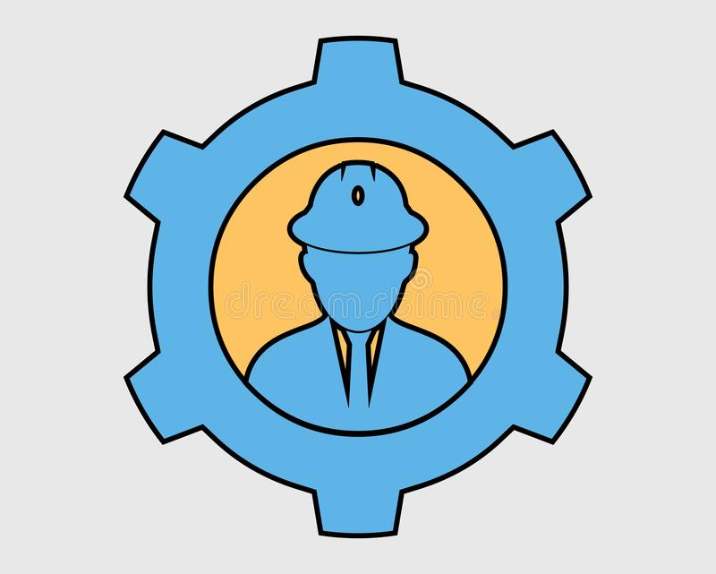 Färgrik mekanisk servicesymbol vektor illustrationer