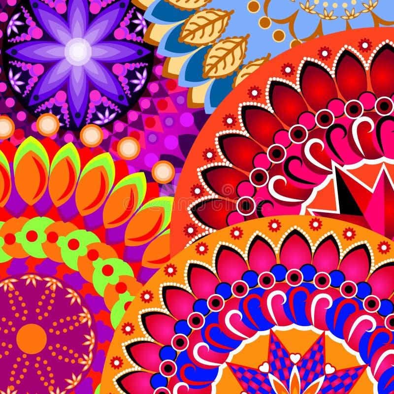 färgrik modell royaltyfri illustrationer