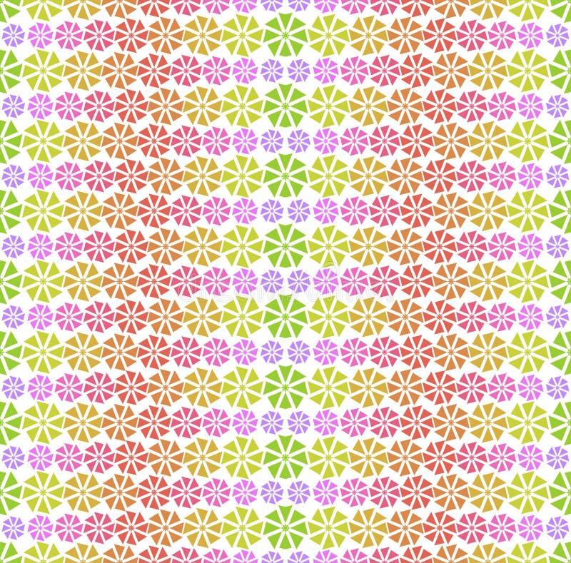 Färgrik modell - abstrakt begreppblommor vektor illustrationer