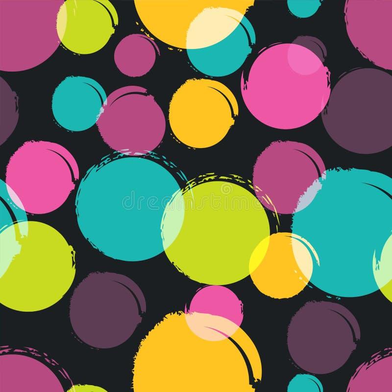 Färgrik modell för sömlös vektor med vattenfärgfläckar, fläckar, stock illustrationer